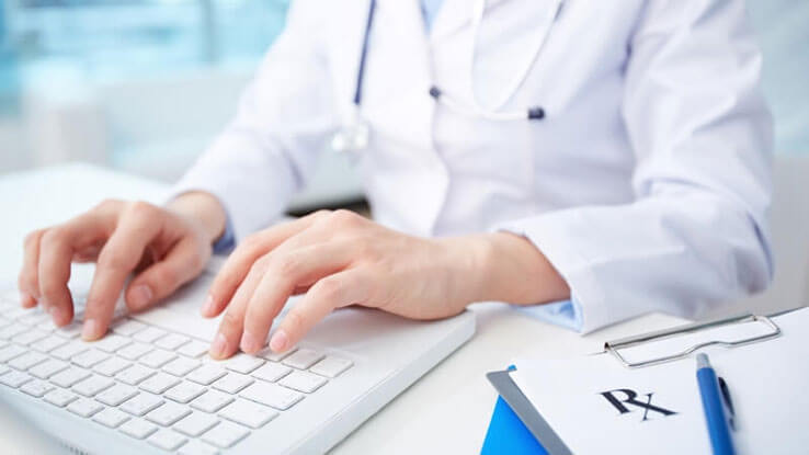 Medical Professional using AXIS Inventory Management Software